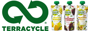 Terracycle logo pouches recycling Fresh 'n Fruity yoghurt image 300x108